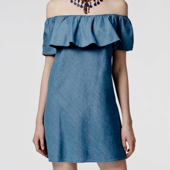 American Rag Off The Shoulder Chambray Dress